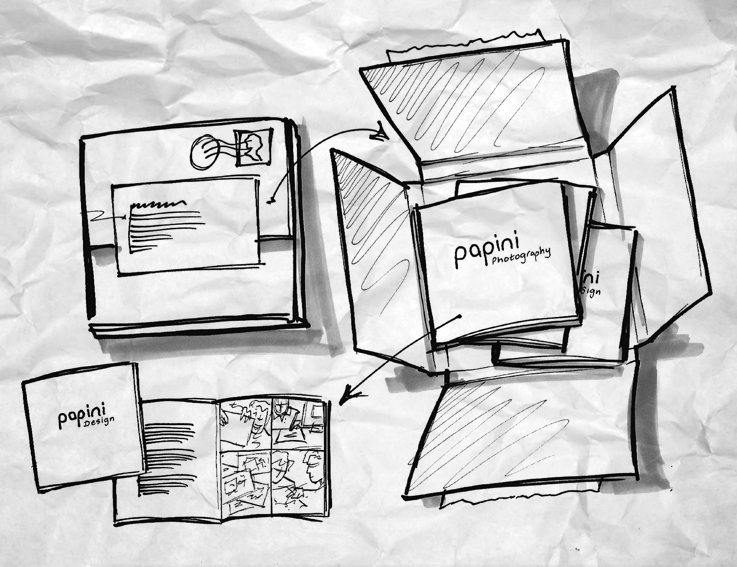 Papini Studio leaflet concepts