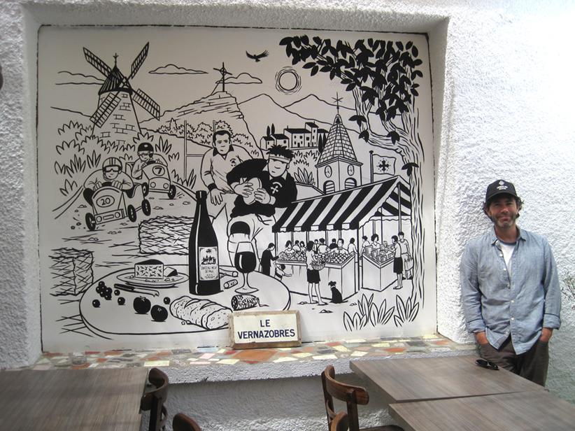 A Mural for a French Café